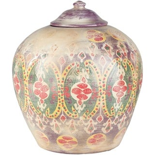 Leila Khaki Boho Large Terracotta Vase