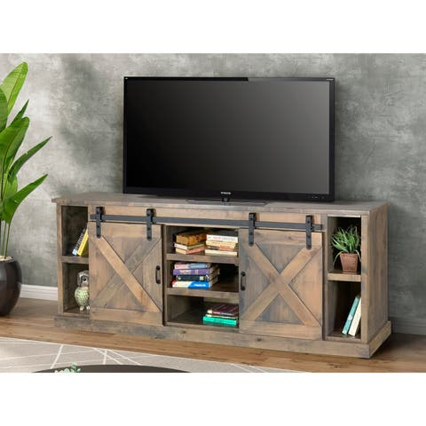 The Gray Barn Sycamore Rise Farmhouse Barnwood 85-inch TV Console