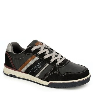 Memphis One Mens Casual Lace Up Sneaker Shoes, Brown/Dark Grey