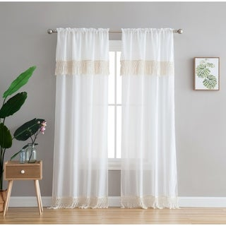 Peach & Oak Lydia Rod Pocket Single Curtain Panel