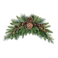 "National Tree Company 36"" Christmas Decorative Pine Cone Crescent"