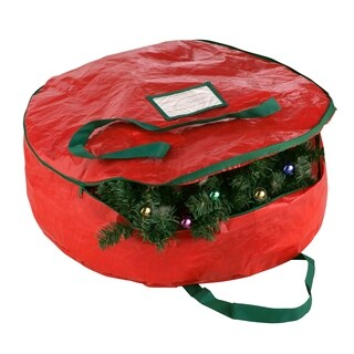 "Elf Stor Premium Holiday Christmas Wreath Storage Bag 30"" Wreaths"