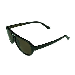 Serengeti Giorgio Men's Sunglasses Shiny Black/Brownwood w/ Polarized Drivers Lens - Black