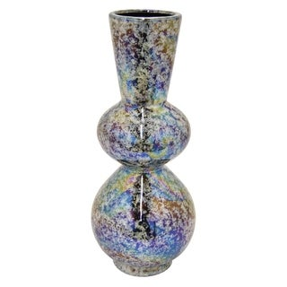Three Hands Ceramic Vase Iridescent