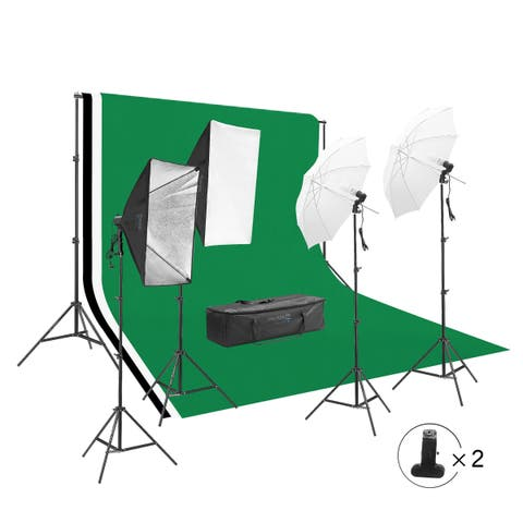 Square Perfect Photography Studio LED Lightin Background Kit