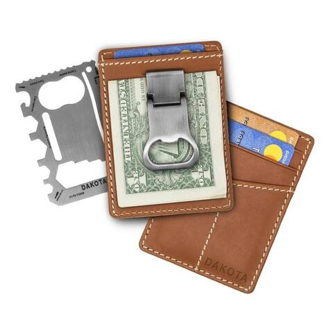Dakota Genuine Leather Wallet with Money Clasp / Bottle Opener