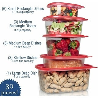 54/30 pc Food containers - N/A