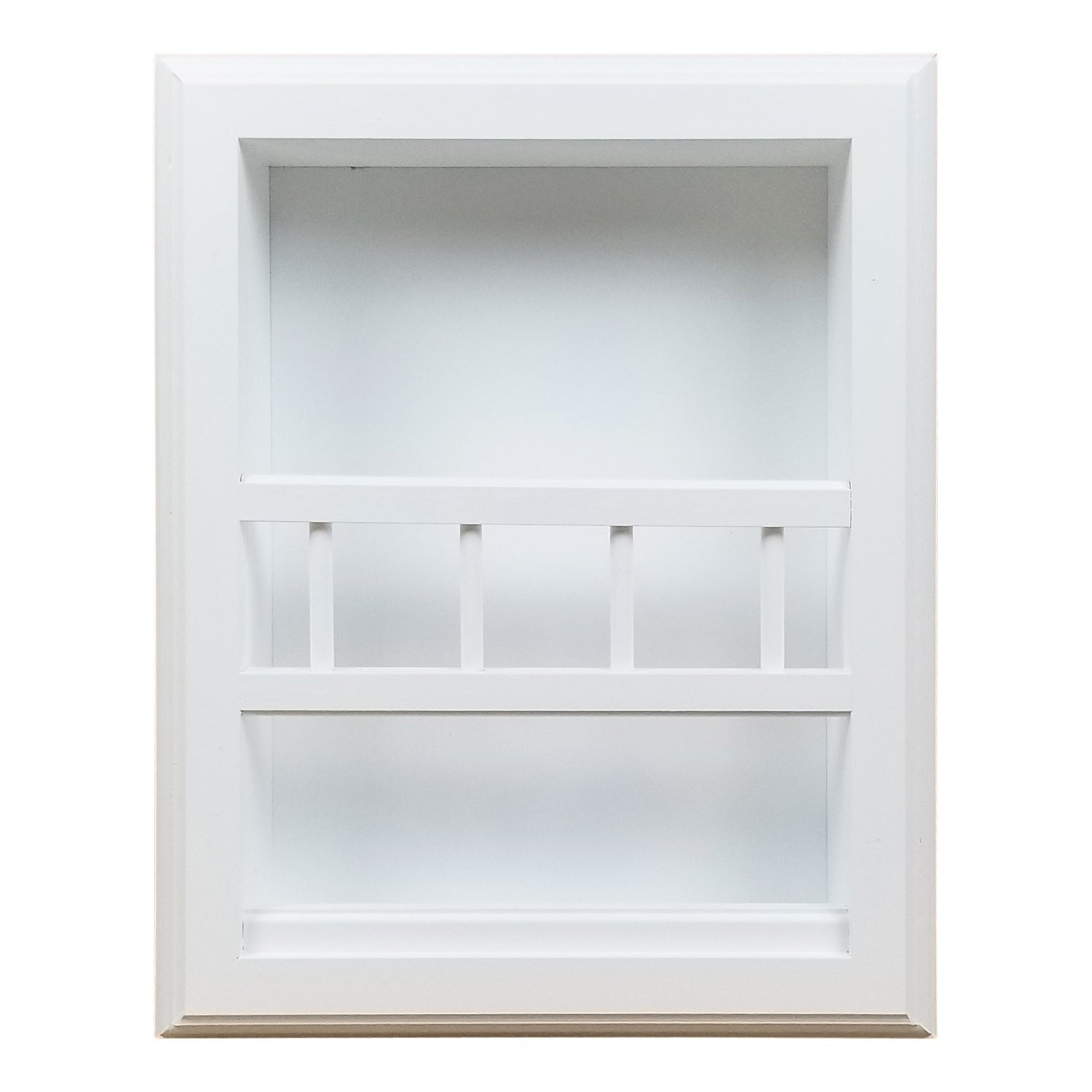 Shop Murphy Recessed White Wood Bathroom Magazine Rack Overstock 23501433