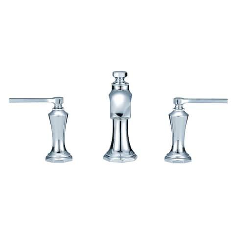 Gerber Draper 2H Widespread Lavatory Faucet w/ Metal Pop-Up Drain 1.2 GPM D304128 Chrome