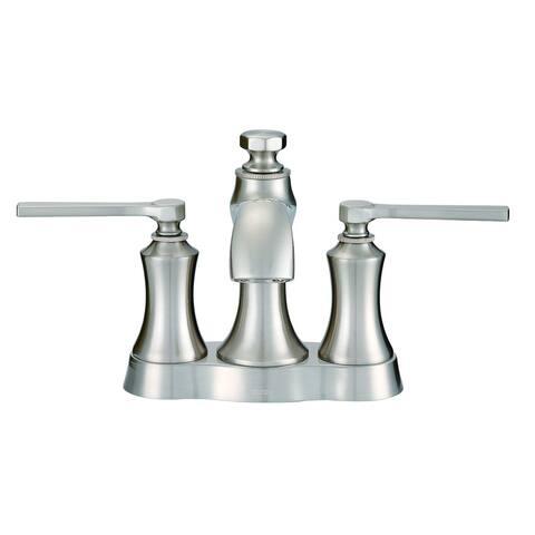 Gerber Draper 2H Centerset Lavatory Faucet w/ Metal Pop-Up Drain 1.2 GPM D307028BN Brushed Nickel - Brushed Nickel