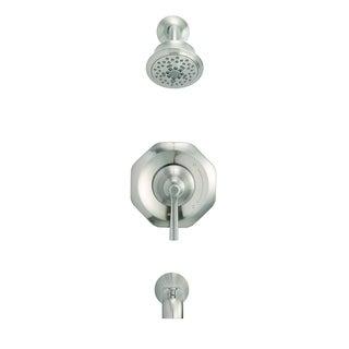 Danze Draper 1H Tub & Shower Trim Kit & Treysta Cartridge 2.0 GPM D502028BNTC Brushed Nickel