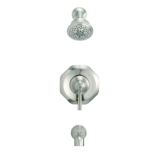 Danze Draper 1H Tub & Shower Trim Kit & Treysta Cartridge 1.75 GPM D501028BNTC Brushed Nickel