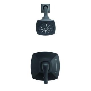 Danze Vaughn 1H Shower Only Trim Kit & Treysta Cartridge 2.0 GPM D502518BSTC Satin Black