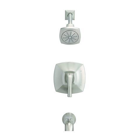 Gerber Vaughn 1H Tub & Shower Trim Kit & Treysta Cartridge 2.0 GPM D502018BNTC Brushed Nickel - Brushed Nickel
