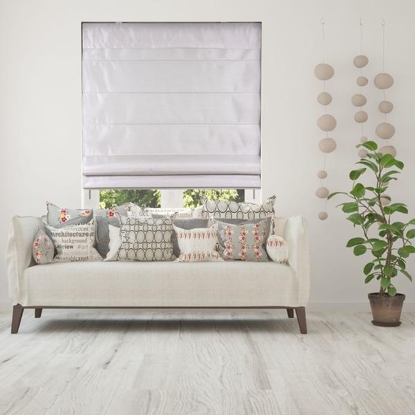 Arlo Blinds Silk Sand Light Filtering Cordless Lift Fabric Roman Shades