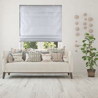 Arlo Blinds Cordless Lift Faux Silk Gray Privacy Fabric Roman Shades