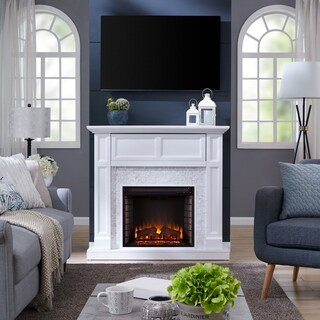 Harper Blvd Viridian Tiled Media Electric Fireplace Console