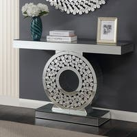 Furniture of America Aurora II Mirrored Entryway Console Table