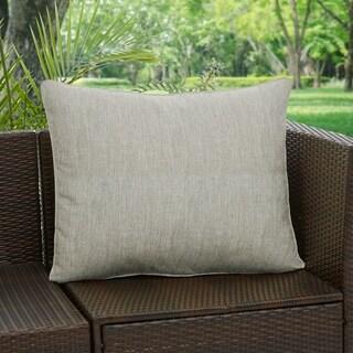 Sunbrella Granite Grey Indoor/ Outdoor Back Pillow