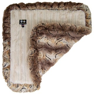Bessie and Barnie Ultra Plush Simba/ Natural Beauty Luxury Dog/ Pet Blanket - beige and brown