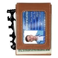 Dakota Genuine Leather Magnetic RFID Slim Wallet with Multi-Tool