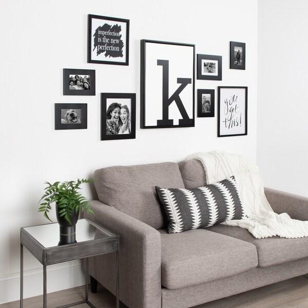 shop kate and laurel sylvie letter art framed canvas 18x24 free