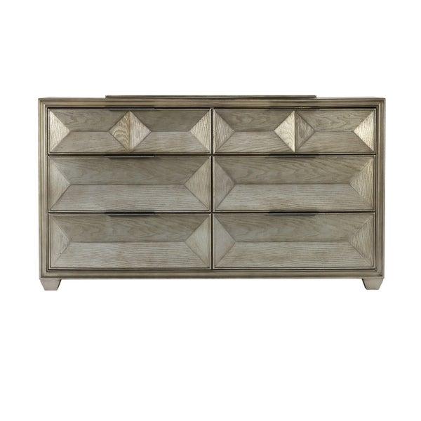 Shop Global Furniture Soho Silver Wood 6-drawer Dresser