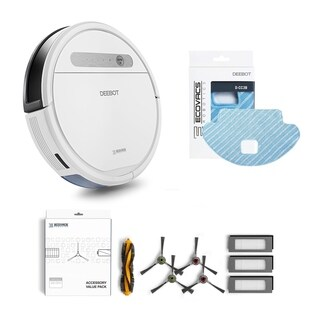 ECOVACS DEEBOT OZMO 610 Bundle: Robotic Vacuum with Service Kit and Replacement Mop Pads