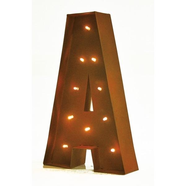 Rustic Vintage 11 Decorative LED Light Glow Letters Letter O