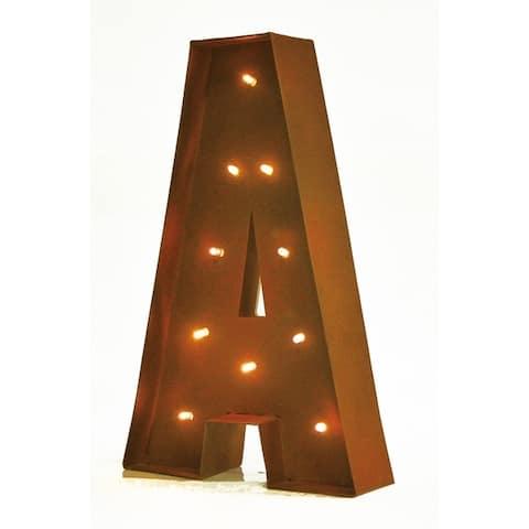 "Rustic Vintage 11"" Decorative LED Light Glow Letters"