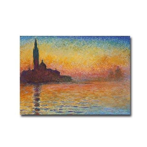 Saint-Georges majeur au crépuscule by Claude Monet Gallery Wrapped Canvas Giclee Art (15 in x 21 in, Ready to Hang)