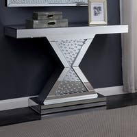 Furniture of America Anganika Glam Mirrored Console Table