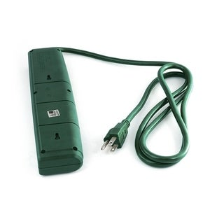 ALEKO 6 Plug Power Strip With 2 USB Outlets 6 ft Cord 300 Joules Green