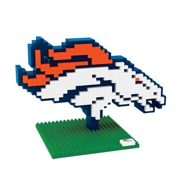 Denver Broncos Nfl Brxlz Logo Building Block Set Multi