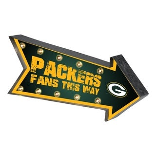 Green Bay Packers NFL Arrow Light Up Marquee Sign - multi