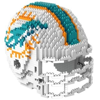 Miami Dolphins NFL 3D BRXLZ Mini Helmet Building Set - multi