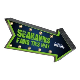 Seattle Seahawks NFL Arrow Light Up Marquee Sign - multi