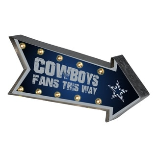 Dallas Cowboys NFL Arrow Light Up Marquee Sign - multi
