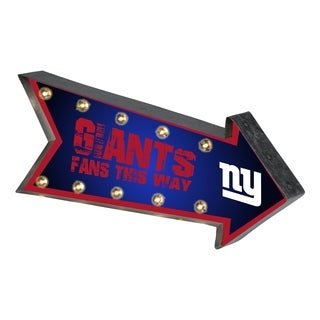 New York Giants NFL Arrow Light Up Marquee Sign - multi