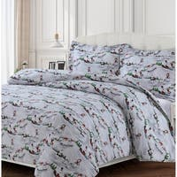 Winter Wonderland 170-GSM Cotton Flannel Printed Oversized Duvet Set