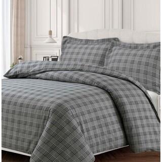 Savannah 170-GSM Cotton Flannel Printed Oversized Duvet Set