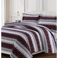Comfy Stripe 170-GSM Cotton Flannel Printed Oversized Duvet Set