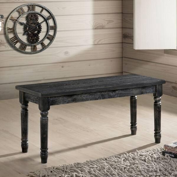 Groovy Shop Carbon Loft Schneider Rustic 40 Inch Grey Dining Bench Ibusinesslaw Wood Chair Design Ideas Ibusinesslaworg