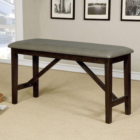 Copper Grove Pordim Counter Height Wire-Brushed Bench