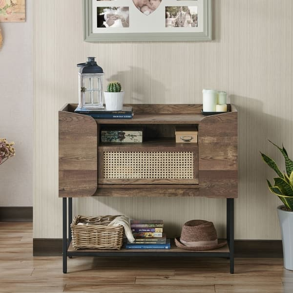 Carbon Loft Cini Rustic Entryway Console Table On