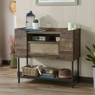 Furniture of America Santee Rustic Entryway Console Table