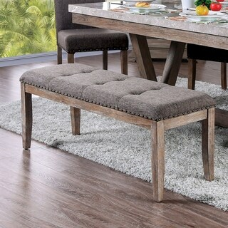 Furniture of America Emmiyah Rustic 48-inch Dining Bench