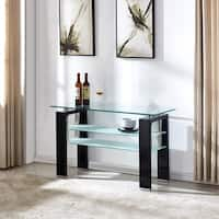 Perla Wood/Glass Console Table