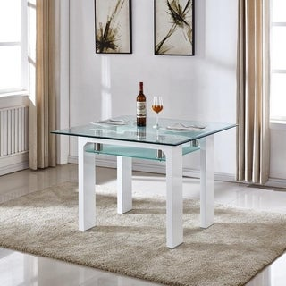 Dove Glass-top Dining Table