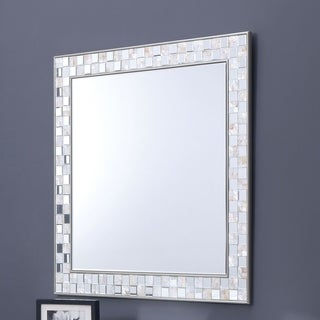 Furniture of America Anais Mother of Pearl Wall Mirror - Silver